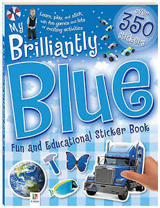 My Brilliantly Blue Fun And Educational Sticker Book by Hinkler Books (Paperbac…