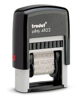 Trodat 4822 Self-inking Print Phrase Stamper Black Ink Pad Free Shipping