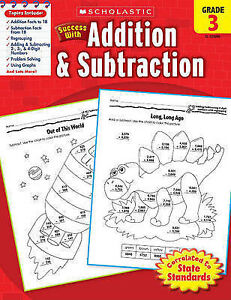 USED (GD) Scholastic Success with Addition & Subtraction, Grade 3 by Scholastic