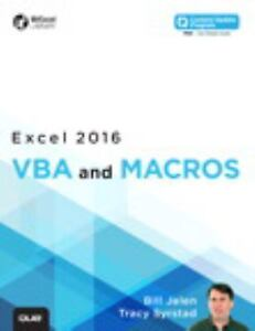 MrExcel Library: Excel 2016 VBA and Macros by Bill Jelen and Tracy Syrstad  (2015, Paperback)