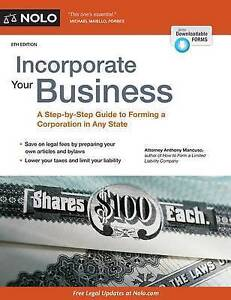 Incorporate Your Business Step-By-Step Guide Forming Corp by Mancuso Anthony Att