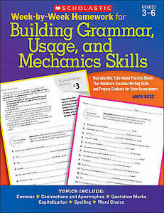 Week-By-Week Homework for Building Grammar, Usage, and Mechanics Skills:...
