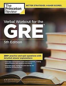 The Princeton Review Verbal Workout for the GRE by Yung-Yee Wu Paperback Book (E