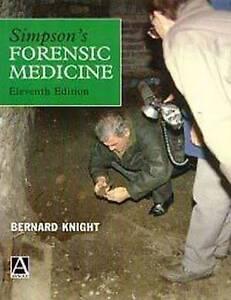 """VERY GOOD"" Simpson's Forensic Medicine, 11Ed, Simpson, Keith, Book"