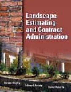 Landscape Estimating and Contract Administration by David Roberts, Edward  Horsey and Stephen Angley (2001, Paperback)