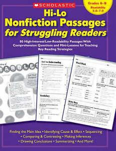 Hi-Lo Nonfiction Passages for Struggling Readers: Grades 6-8: 80...