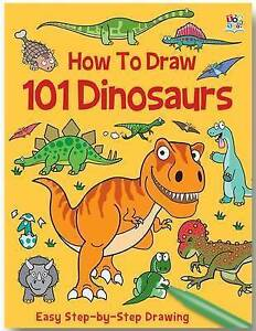 How-to-Draw-101-Dinosaurs-Very-Good-Condition-Book-Barry-Green-ISBN-978178244
