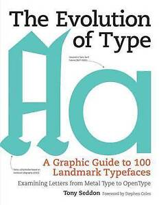 The Evolution Type Graphic Guide 100 Landmark Typefaces by Seddon Tony -Hcover
