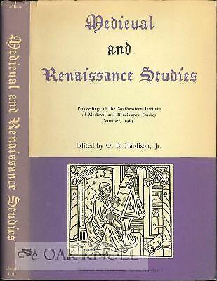 Medieval And Renaissance Clothing (O B Hardison / MEDIEVAL AND RENAISSANCE STUDIES PROCEEDINGS OF THE)