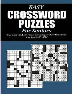 NEW Easy Crossword Puzzles for Seniors by Pat L. Steele