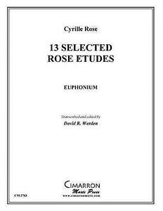 13 Selected Rose Etudes by Werden, David R. -Paperback NEW