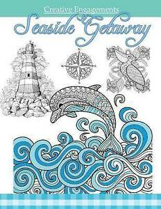 Seaside Getaway Marine Life Coloring Book Adult Coloring Books  by Creative Enga