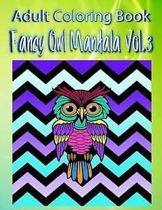 Adult-Coloring-Book-Fancy-Owl-Mandala-Volume-3-by-Moreno-John-Paperback