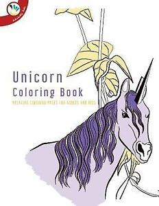 Unicorn Coloring Book. Relaxing Coloring Pages for Adults ...