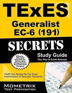 TExES Generalist EC-6 (191) Secrets Study Guide: TExES Test Review for the Texas