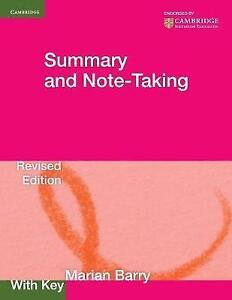 Summary and Note-Taking with key (Georgian Press), Barry, Marian, Very Good cond