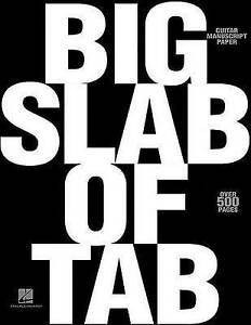 NEW Big Slab of Tab Guitar Manuscript Paper 8 Stave