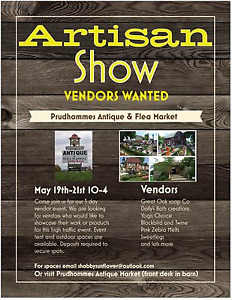 Prudhommes Artisan show vendors wanted