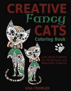 Image Is Loading Creative Fancy Cats Coloring Book Adult