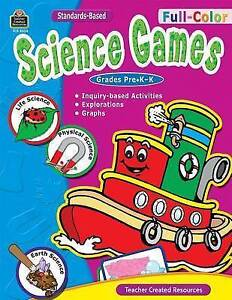 NEW Full-Color Science Games, PreK-K by Julie Mauer