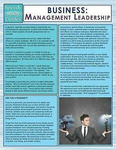 Business: Management Leadership (Speedy Study Guides) by Publishing LLC, Speedy