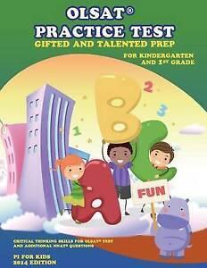 Olsat Practice Test Gifted Talented Prep for Kindergarten by Kids Pi For
