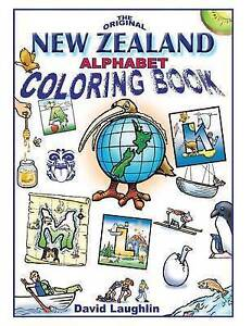 New Zealand Alphabet Coloring Book by Laughlin, David -Paperback
