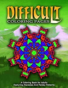 Difficult Coloring Pages - Vol4 Coloring Pages for Girls by Coloring Pages for G