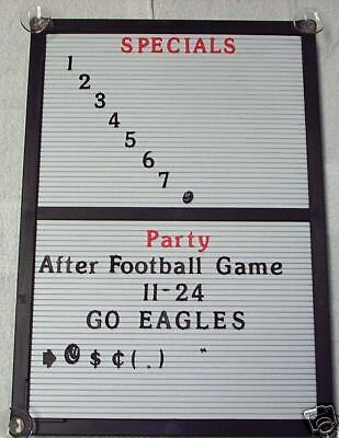 New Changeable Letter Message Menu Board Info Sign