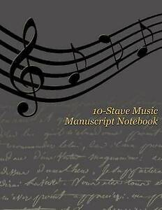 10-Stave Music Manuscript Notebook - Wavy Music Staff by Writedrawdesign