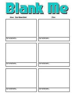 Blank Me - Basic Blank Comic Book Panelbook - 133 Pages Worlds Greatest Blank Co