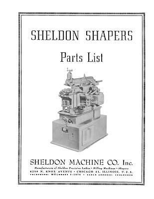 Sheldon Shaper Parts List