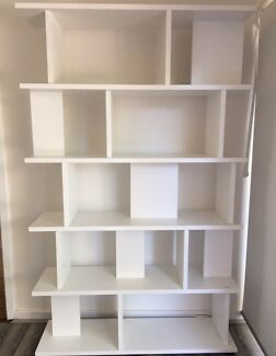 White Display Shelf Unit