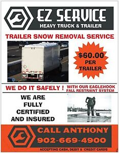 Commercial Trailer snow removal. Amherst to Moncton area