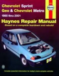 Haynes-Manuals-Haynes-Chevrolet-Sprint-Geo-and-Chevrolet-Metro-1985-2001-by
