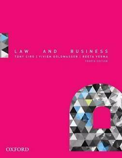 Law and Business Law and Business Tony Ciro 4th Edition 2014 North Sydney North Sydney Area Preview