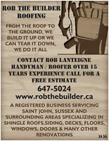ROB THE BUILDER ROOFING & RENOS