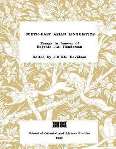 NEW South-East Asian Linguistics: Essays in Honour of E. J. S. Henderson