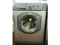 HOTPOINT AQUARIUS WASHING MACHINE - GRAPHITE/SILVER - 7KG - 1400 SPIN - WITH GUARANTEE -WILL DELIVER