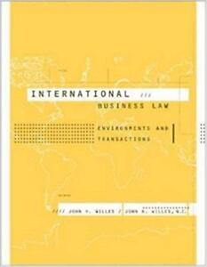 International Business Law Environments and Transactions 1st Edition
