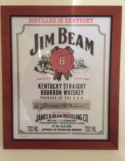 Jim beam poster