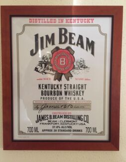 Jimbeam framed picture