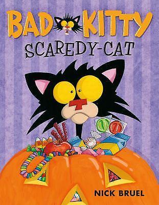 Bad Kitty Scaredy-Cat  (ExLib) by Nick Bruel