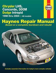 Repair Manual Book Dodge Intrepid Chrysler LHS 300M