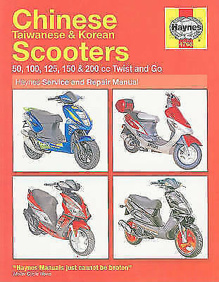 Haynes Manual Chinese Taiwanese Korean Scooters 50cc 125cc 150cc