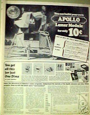 1970 Apollo Lunar Module Space Craft Model Kit Photo Ad