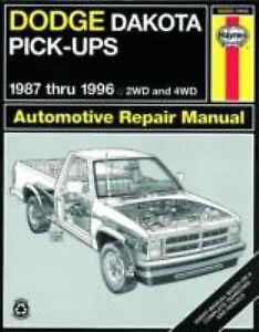 1987 1996 haynes dodge dakota pick ups repair manual. Black Bedroom Furniture Sets. Home Design Ideas