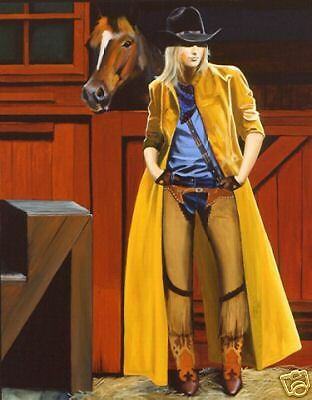 My Buddy And Me by David DeVary Cowgirl & Horse Giclee