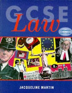 Very Good, GCSE Law, Martin, Jacqueline, Book