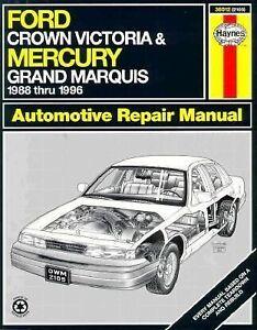 Haynes Manual Ford Crown Victoria & Mercury Marquis 1988-96